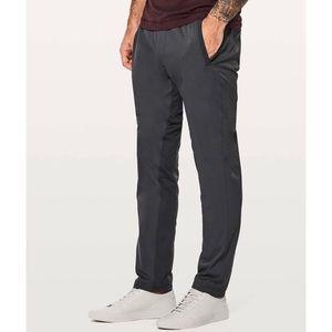 LULULEMON | men's Great Wall pants gray black L